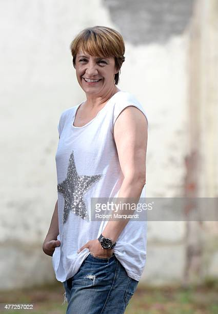 Blanca Portillo poses for the press on the set of her latest movie 'Secuestro' on June 15 2015 in Barcelona Spain