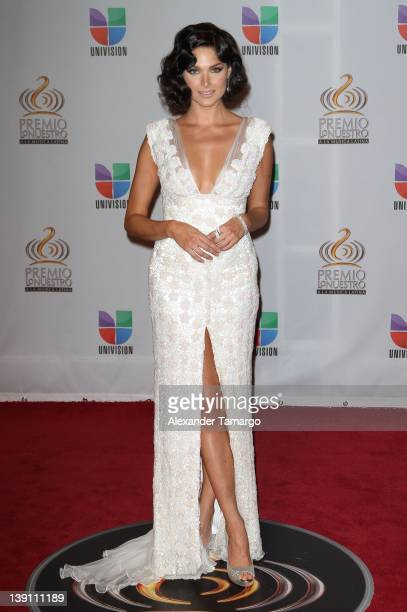 Blanca Soto arrives at Univision's Premio Lo Nuestro a La Musica Latina at American Airlines Arena on February 16 2012 in Miami Florida