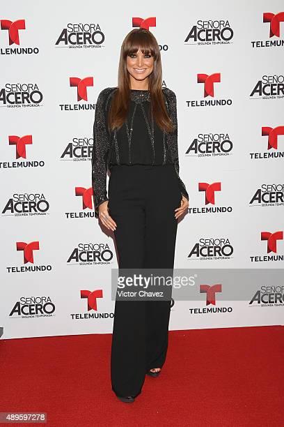 Blanca Soto attends 'Senora Acero' second season premiere red carpet at Cinepolis Plaza Carso on September 22 2015 in Mexico City Mexico
