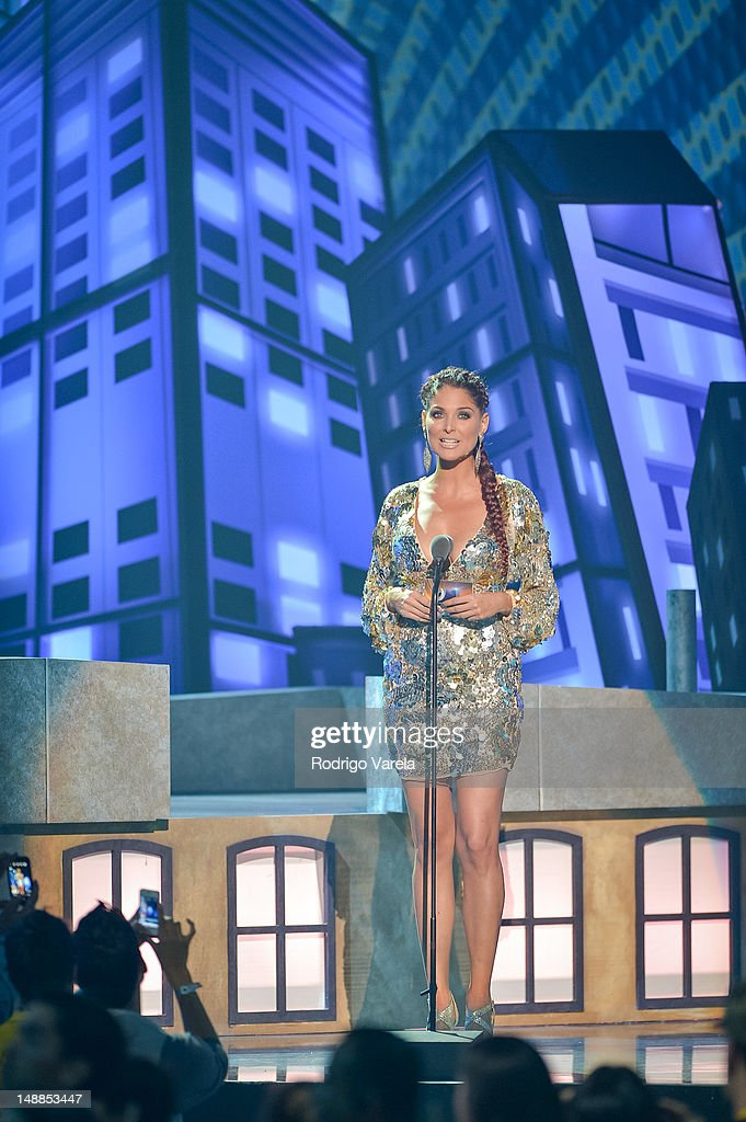 <a gi-track='captionPersonalityLinkClicked' href=/galleries/search?phrase=Blanca+Soto&family=editorial&specificpeople=4451476 ng-click='$event.stopPropagation()'>Blanca Soto</a> onstage during the Univision's Premios Juventud Awards at Bank United Center on July 19, 2012 in Miami, Florida.