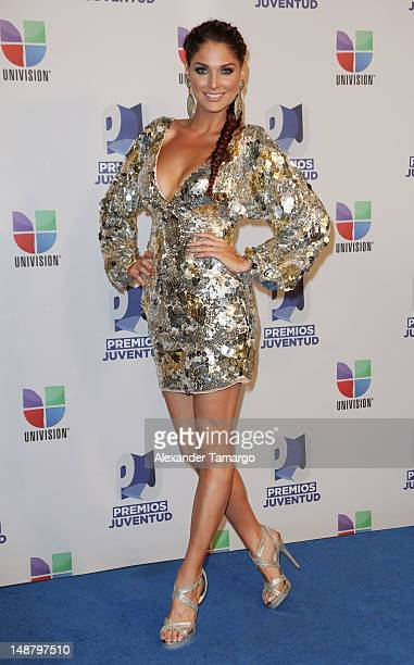 Blanca Soto poses backstage at Univision's Premios Juventud Awards at Bank United Center on July 19 2012 in Miami Florida