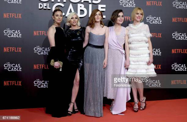 Blanca Suarez Ana Fernandez Ana Maria Polvorosa Nadia de Santiago and Maggie Civantos attend the 'Las Chicas del Cable' Netflix Tv Series premiere at...