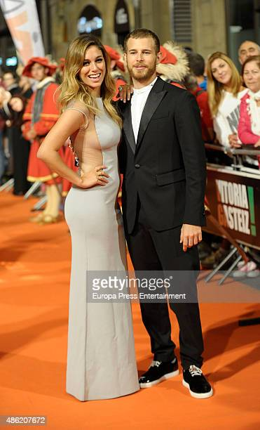 Blanca Suarez and Alvaro Cervantes attend 'Carlos Rey Emperador' premierel during FesTVal 2015 on September 1 2015 in VitoriaGasteiz Spain