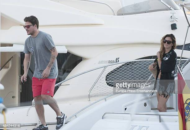 Blanca Suarez and Dani Martin are seen on August 26 2014 in Ibiza Spain