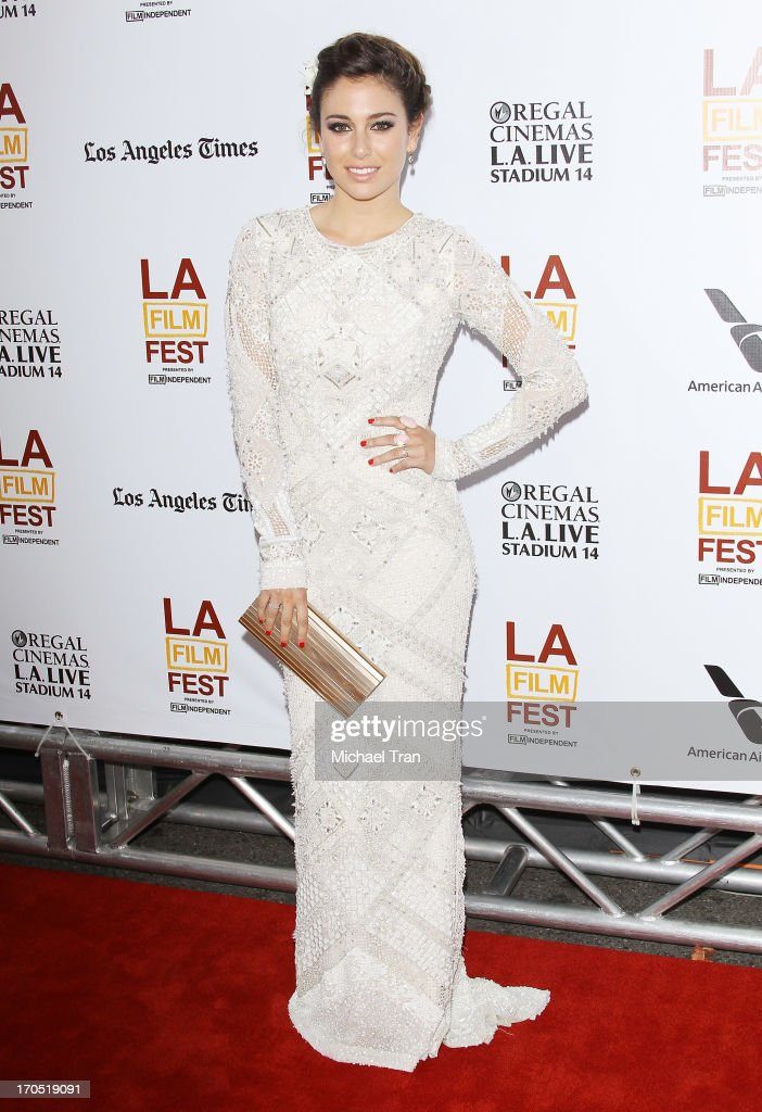 Blanca Suarez arrives at the 2013 Los Angeles Film Festival 'I'm So Excited' opening night premiere held at Regal Cinemas LA LIVE Stadium 14 on June...