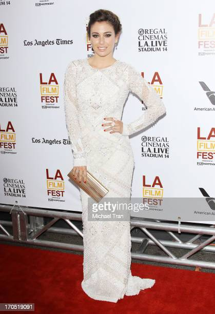 Blanca Suarez arrives at the 2013 Los Angeles Film Festival 'I'm So Excited' opening night premiere held at Regal Cinemas LA LIVE Stadium 14 on June...