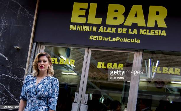 Blanca Suarez attends 'El Bar' Photocall at Paletinos bar on March 22 2017 in Madrid Spain