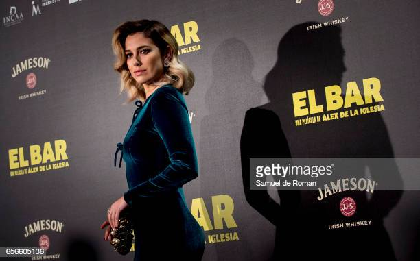Blanca Suarez attends 'El Bar' premiere at Callao cinema on March 22 2017 in Madrid Spain