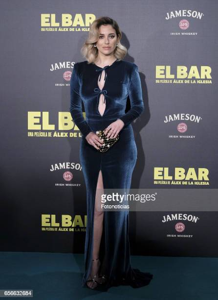 Blanca Suarez attends the 'El Bar' premiere at Callao cinema on March 22 2017 in Madrid Spain