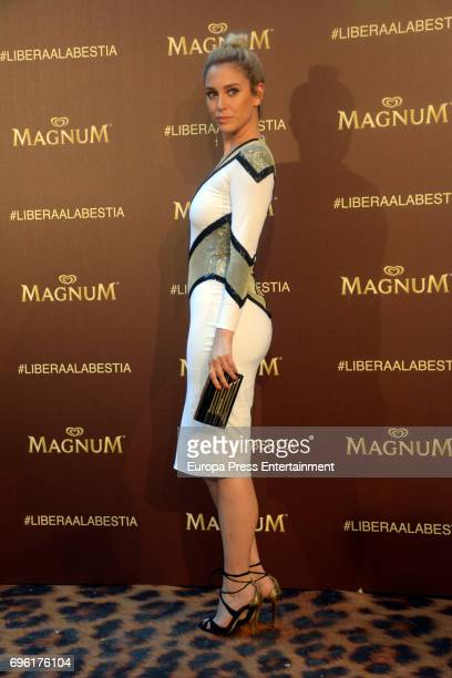Blanca Suarez attends the Magnum new campaign presentation party at the Palacete de Fortuny on June 14 2017 in Madrid Spain
