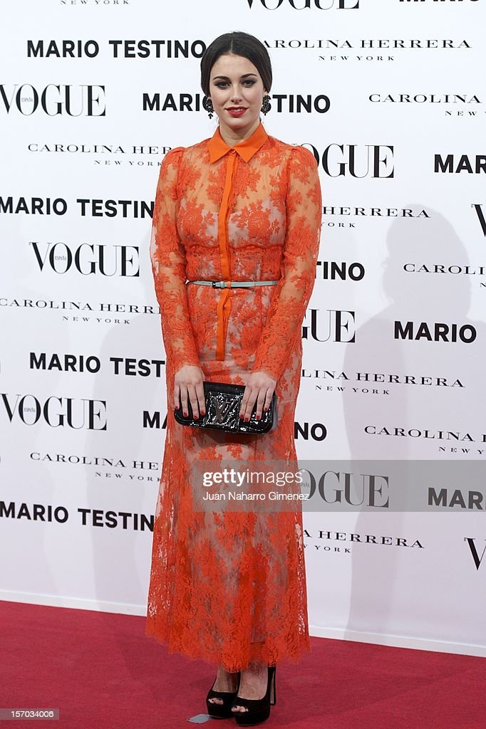 Blanca Suarez attends the presentation launch of the Vogue December issue at Fernan Nunez Palace on November 27, 2012 in Madrid, Spain.