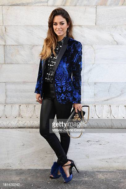 Blanca Suarez attends the Roberto Cavalli show as a part of Milan Fashion Week Womenswear Spring/Summer 2014 on September 20 2013 in Milan Italy