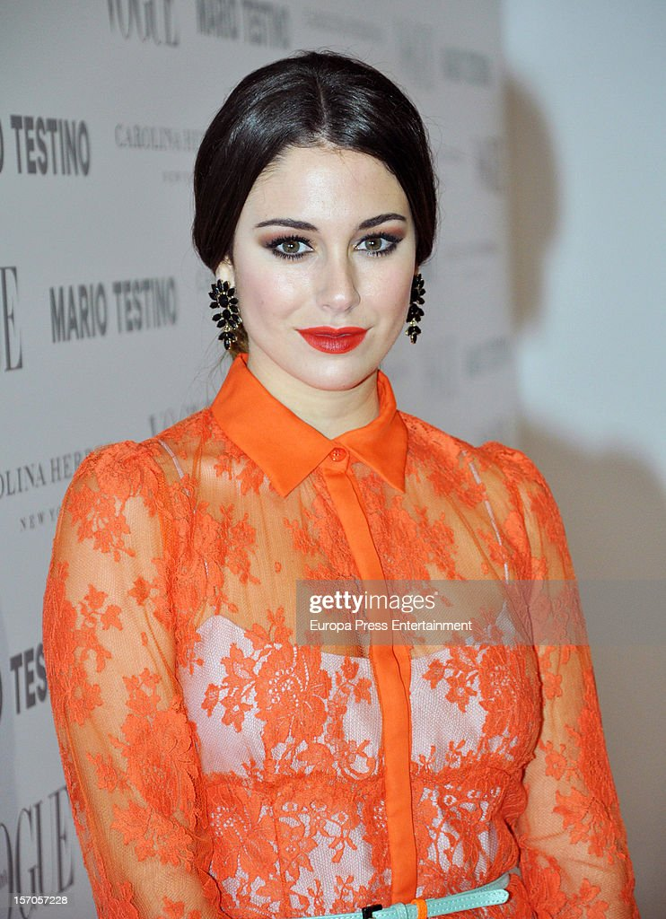 <a gi-track='captionPersonalityLinkClicked' href=/galleries/search?phrase=Blanca+Suarez&family=editorial&specificpeople=4708287 ng-click='$event.stopPropagation()'>Blanca Suarez</a> attends Vogue Magazine December issue launch party at Fernan Nunez Palace on November 27, 2012 in Madrid, Spain.