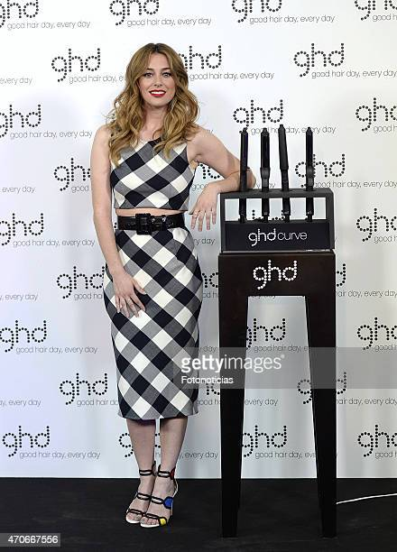 Blanca Suarez presents the GHD Spain new campaign at Camera Studio on April 22 2015 in Madrid Spain