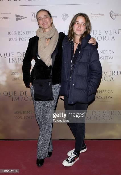 Blanca Suelves and Blanca Osorio attend the 'Lo Que De Verdad Importa' premiere at the Hotel Vincci Capitol on February 15 2017 in Madrid Spain