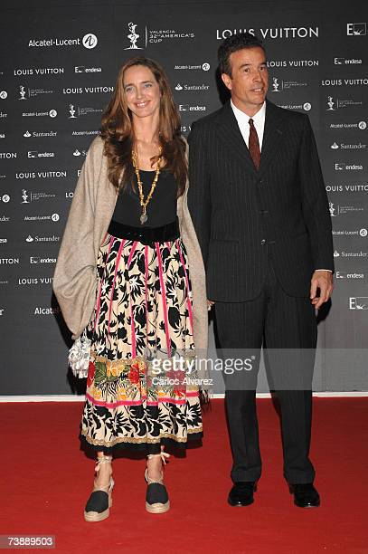 Blanca Suelves and Ioannes Osorio attend America's Cup Cocktail Party on April 14 2007 in Valencia Spain