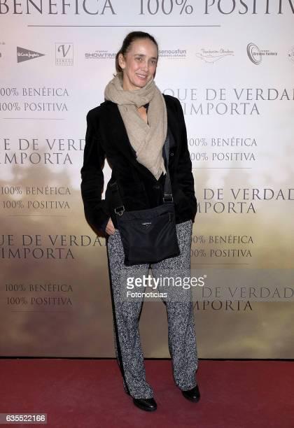 Blanca Suelves attends the 'Lo Que De Verdad Importa' premiere at the Hotel Vincci Capitol on February 15 2017 in Madrid Spain