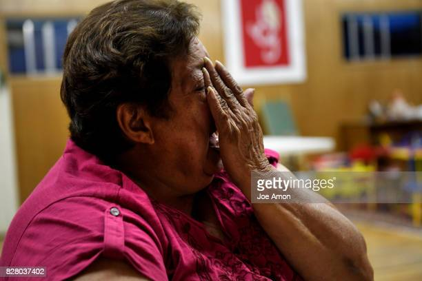 Blanca Valdivia the mother of Rosa Sabido is filled with emotion while talking of her daughter living in sanctuary during one of her frequent visits...