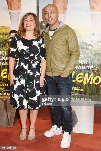 Blanche Gardin and Eric Judor attend 'Problemos' Paris Premiere At UGC Cine Cite Les Halles on May 9 2017 in Paris France