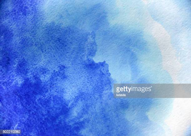Blank Abstract light blue watercolor background isolated on white