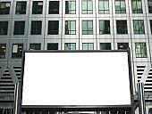 Blank Advertising Billboard, London, UK