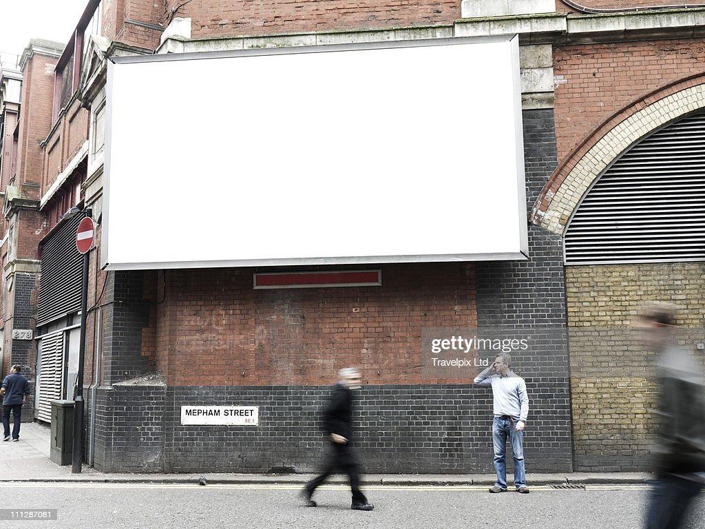 Blank Advertising Billboard, London, UK : Foto de stock