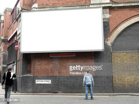 Blank Advertising Billboard, London, UK : Stock Photo