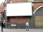 Blank Advertising Billboard, London, UK
