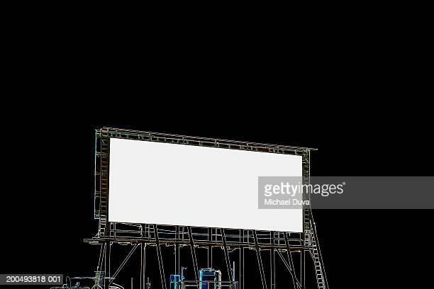 Blank advertising billboard on rooftop