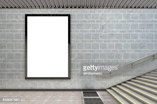 Blank advertising billboard poster : Stock Photo
