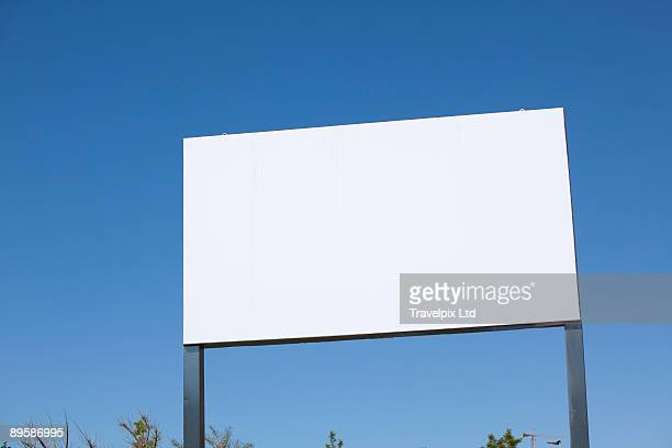 Blank advertising board