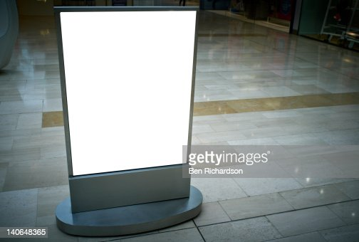 A blank Advertising sign : Stock-Foto