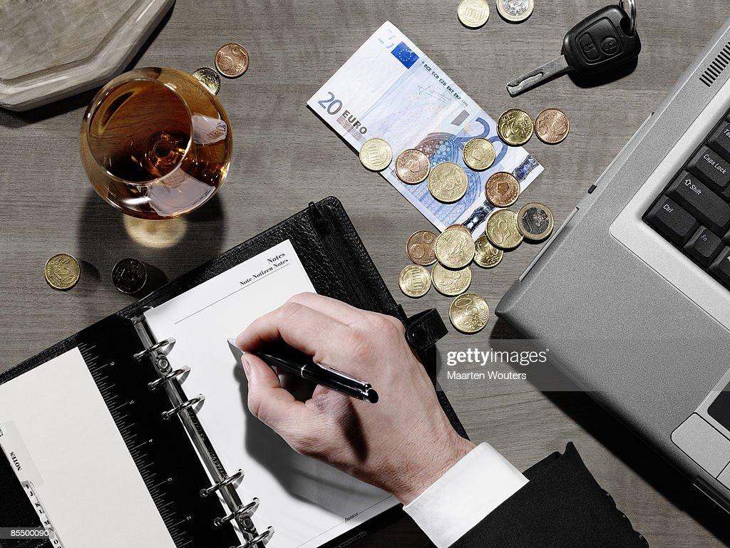 blank agenda : Stock Photo