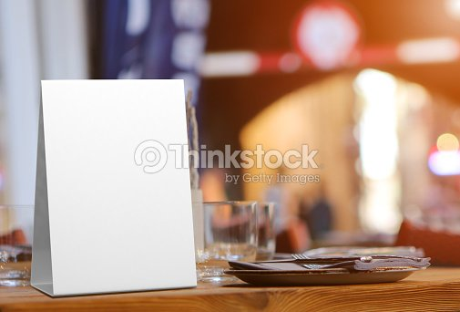Blank And White Promotional Table Talkers And Table Tent D Mock Up - Restaurant table talkers