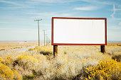 Blank billboard at roadside