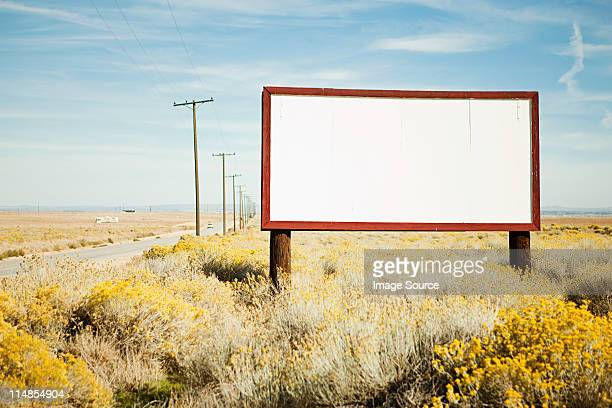 Blank billboard at roadside