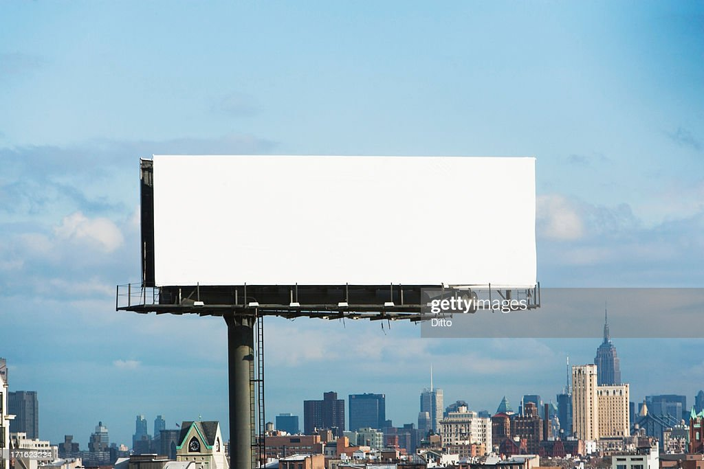 Blank billboard, New York City, USA : Photo