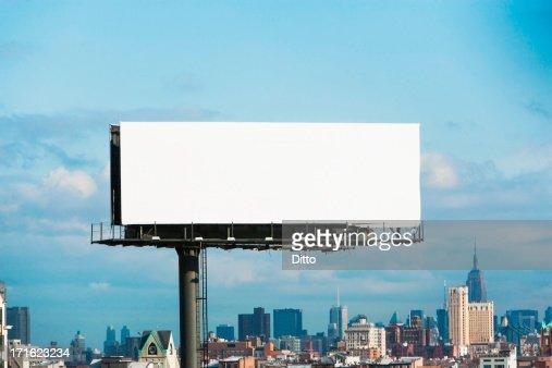 Blank billboard, New York City, USA