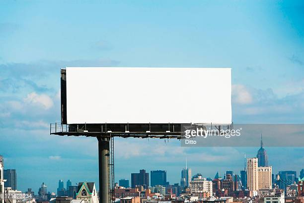 Blank billboard, New York City, USA