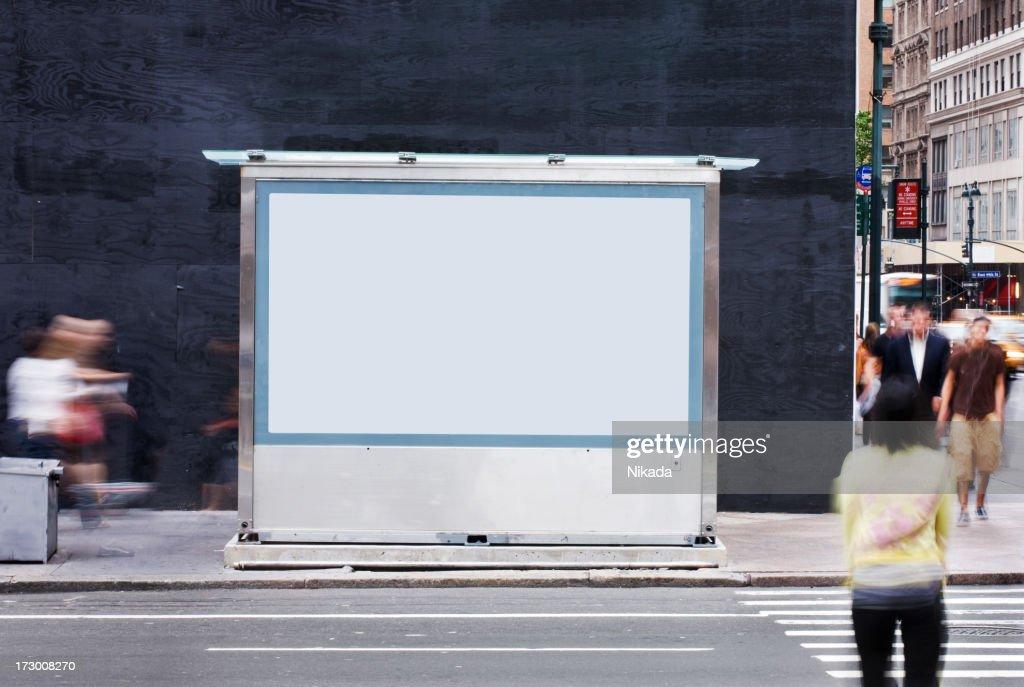 Panneau d'affichage vide-New York : Photo