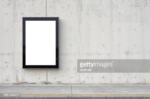 Outdoor em branco na parede.