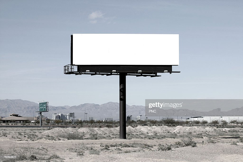 Blank billboard : Stock Photo