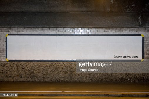 Blank billboard poster : Stock Photo