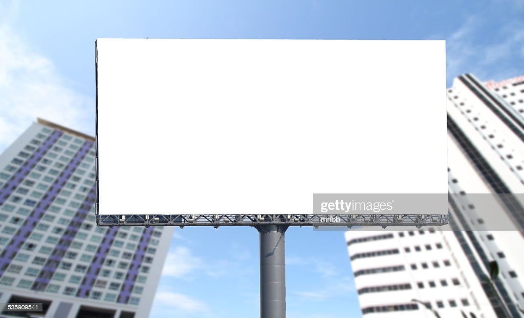 Blank billboard ready for new advertisement : Stock Photo