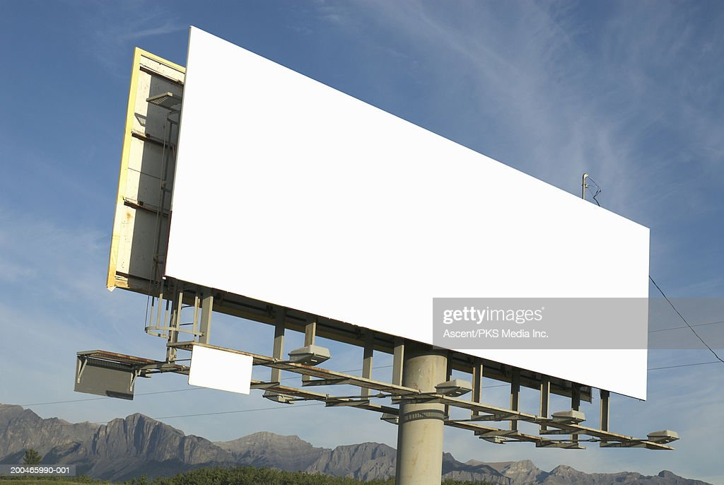 Blank billboard sign : Stock Photo