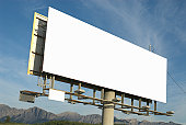 Blank billboard sign