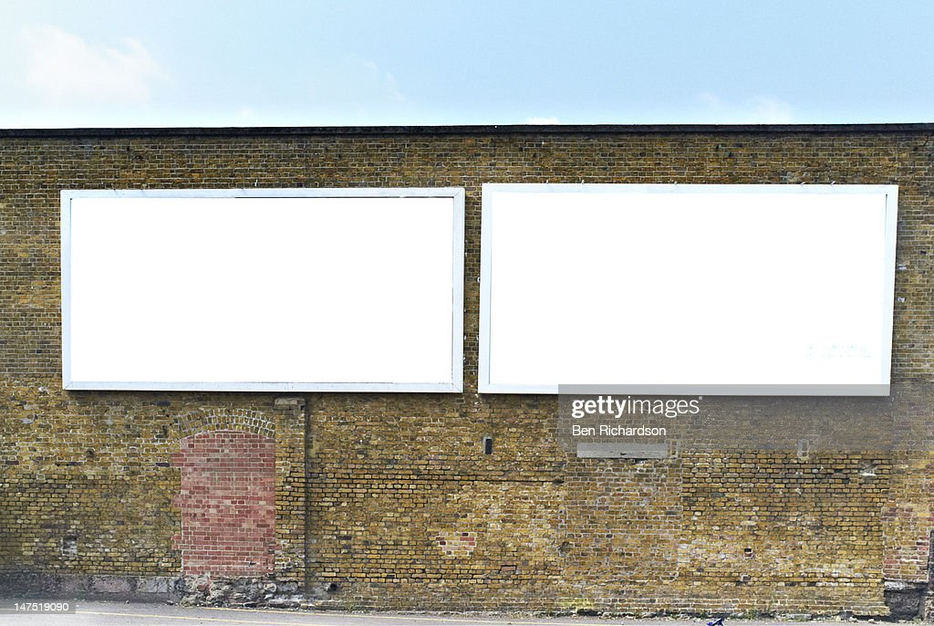 2 Blank Billboards : Stock Photo