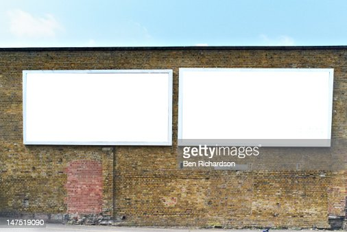 2 Blank Billboards : Foto de stock