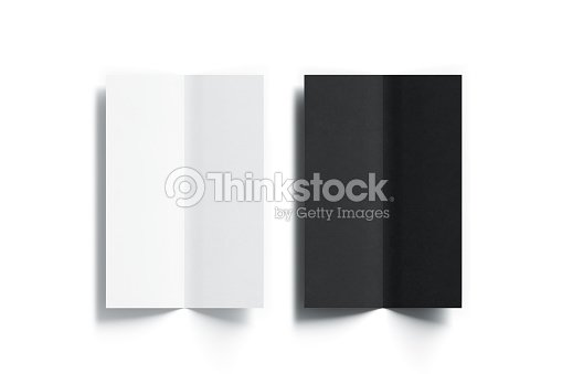 blank black and white multipage booklet menu mock up stock photo