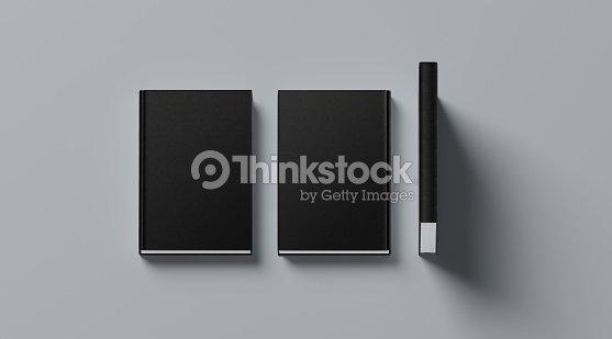 Livre Blanc Noir Couverture Rigide Tissulaire Simule Vers Le